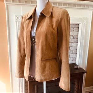 LIZ CLAIBORNE WOMEN'S JACKET GENUINE SUEDE LEATHER